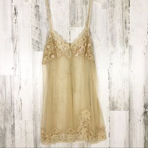 Victoria Secret Lace Slip Nude Small